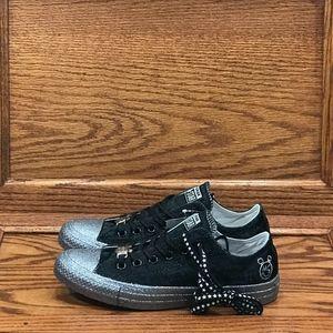 Converse x Miley Cyrus CTAS Black Silver Shoes